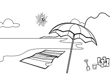 354x250 Beach Coloring Pages