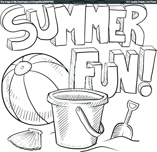 618x599 Summer Themed Coloring Pages