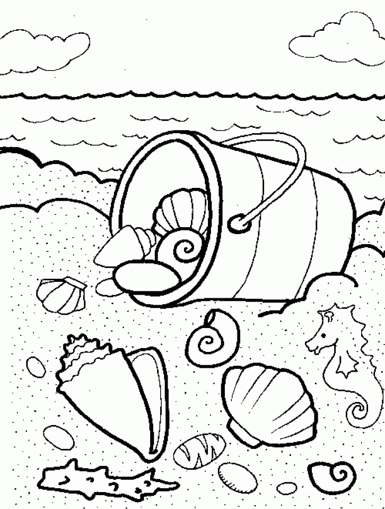 Beach Theme Coloring Pages At Getdrawings Com Free For Personal
