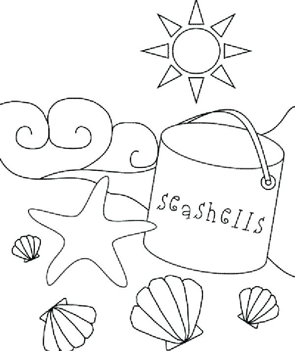 600x715 Beach Themed Coloring Pages