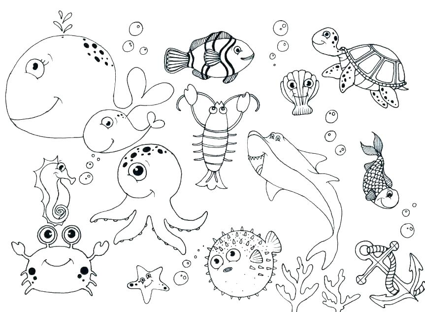 863x633 Free Ocean Coloring Pages Beach Themed Coloring Pages Coloring