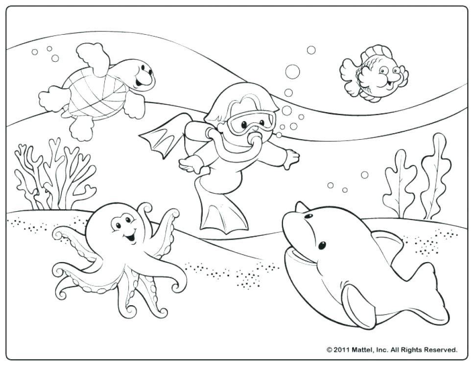 970x749 Beach Coloring Book As Well As Beach Coloring Book Mesmerizing