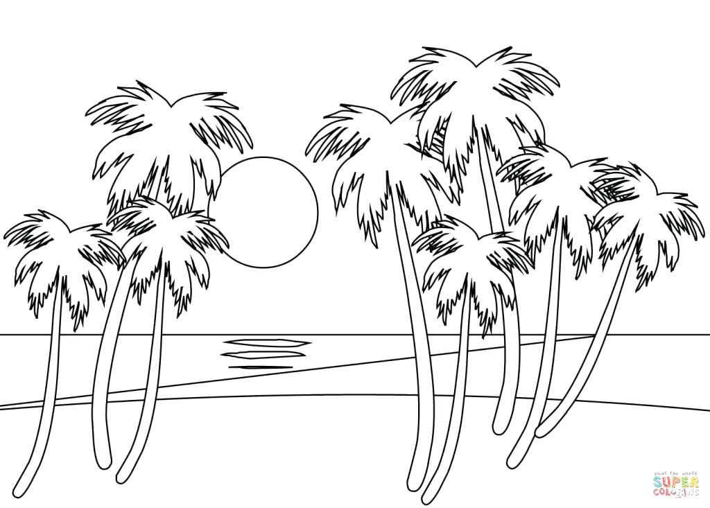 1024x733 Summer Themed Coloring Pages Beach Coloring Pages Cool Beach