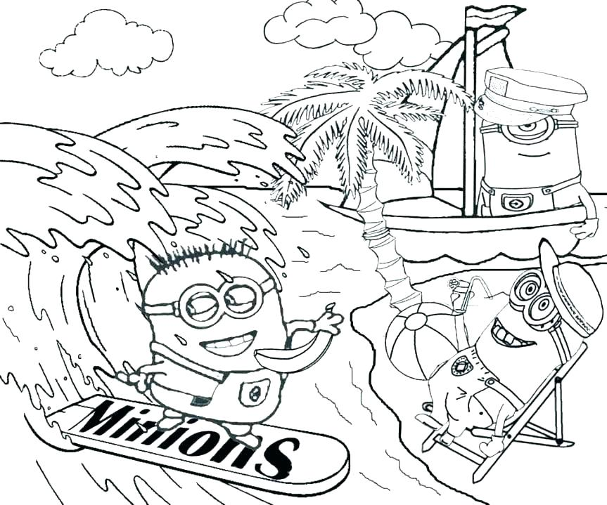 863x719 Vacation Coloring Pages Beach Themed Coloring Pages Coloring Page
