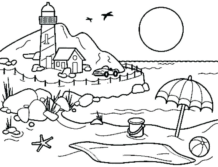 900x688 Beach Themed Coloring Pages