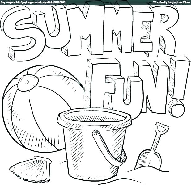 618x599 Coloring Pages Beach