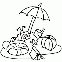 236x236 Summer Printable Beach Coloring Pages
