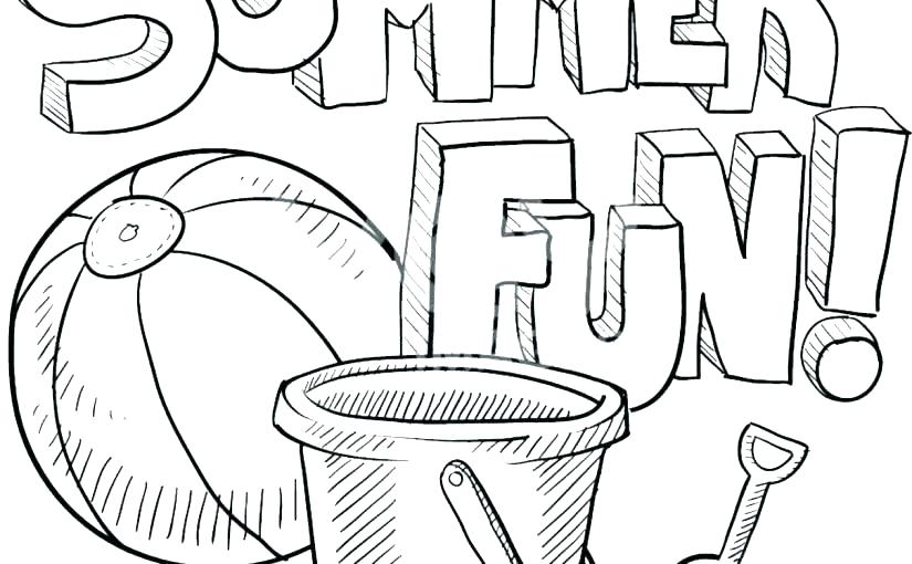 825x510 Beach Coloring Pages Image Gallery Of Beach Coloring Pages Summer