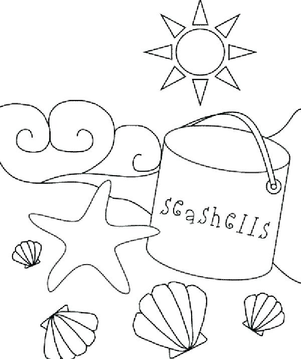 600x715 Beach Themed Coloring Pages Printable Free Sheets Print C