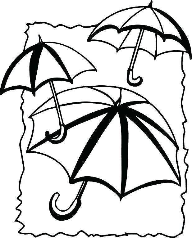 618x767 Beach Umbrella Coloring Pages Clip Arts Related To Beach Umbrella