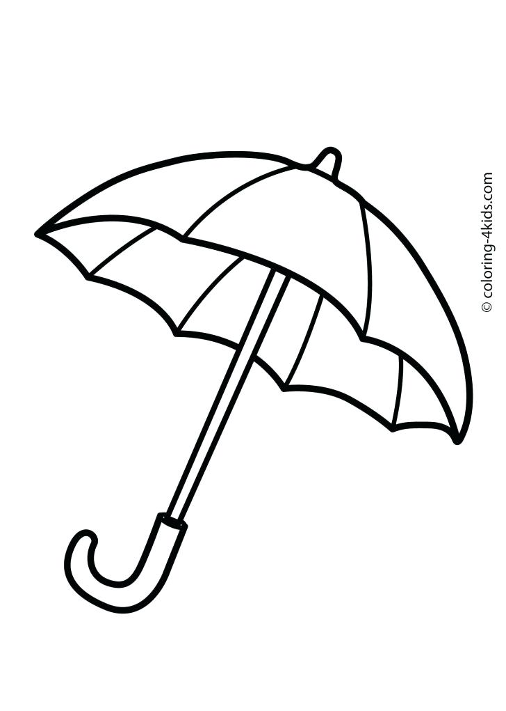 728x1021 Beach Umbrella Coloring Pages Umbrella Coloring Pages For Kids