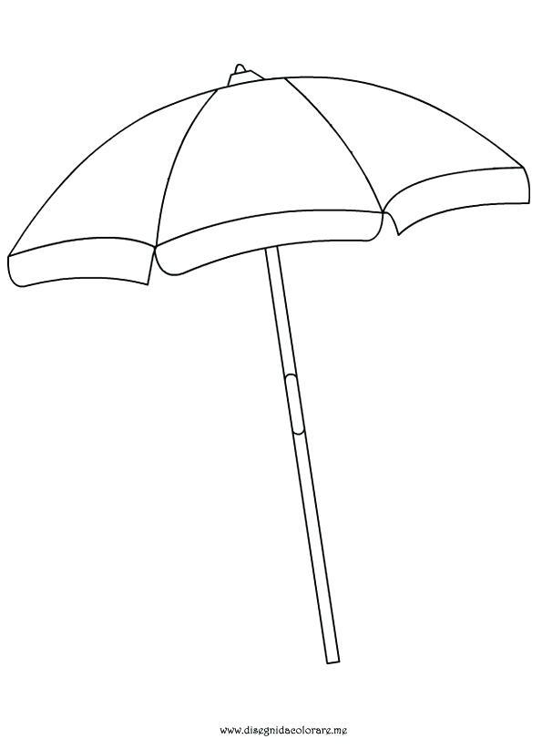 595x822 Beach Umbrella Coloring Page Outstanding Stunning Beach Umbrella