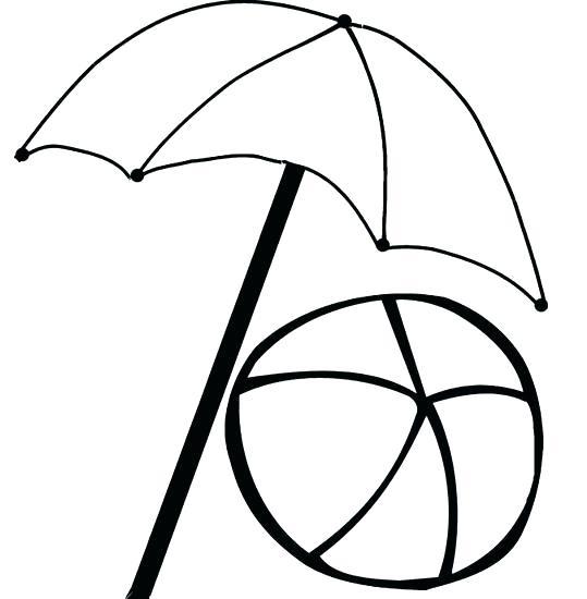 539x550 Coloring Pages Beach Umbrella Umbrella Coloring Pages Cartoon