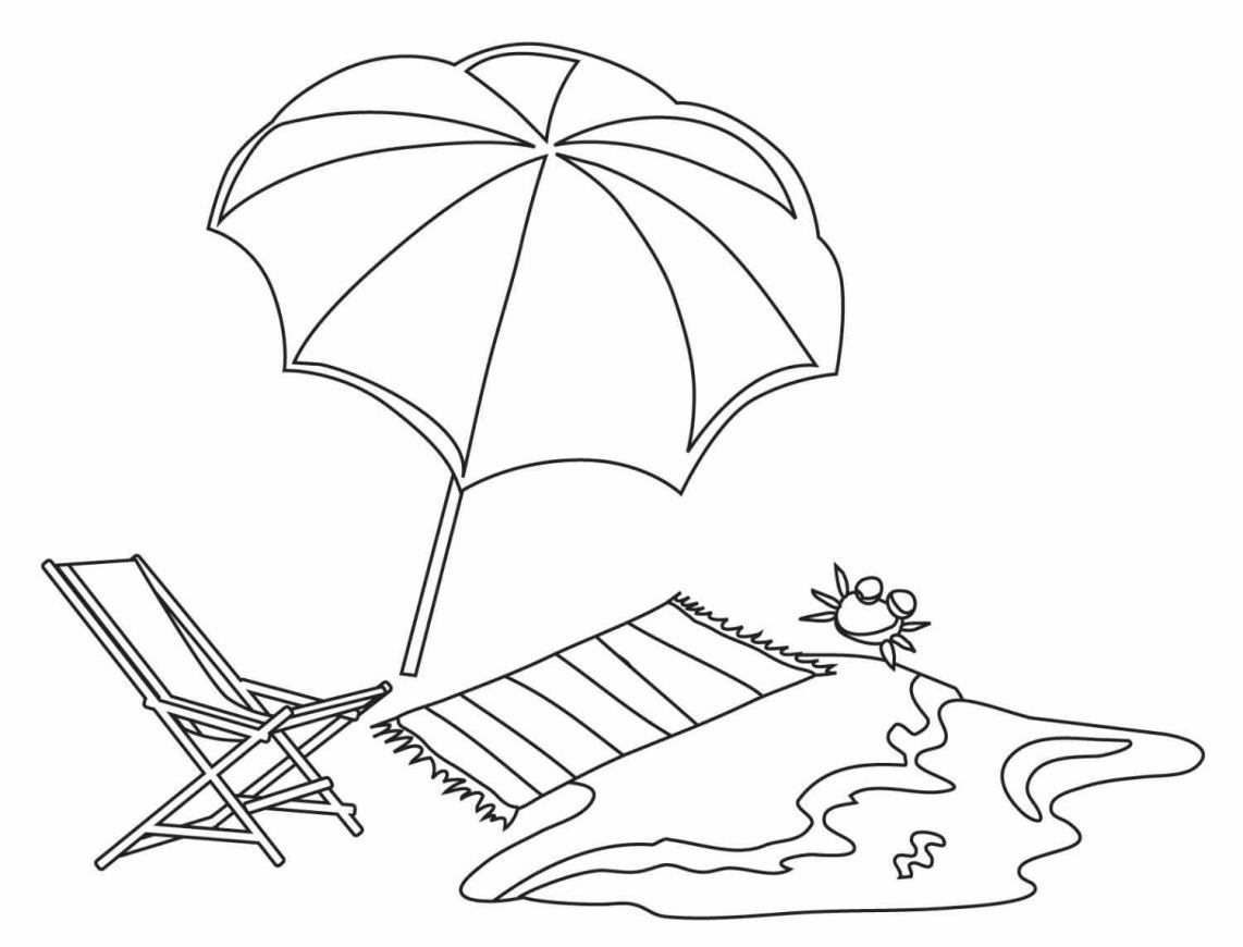 1142x870 Beach Chair Coloring Pages To Print Coloring For Kids