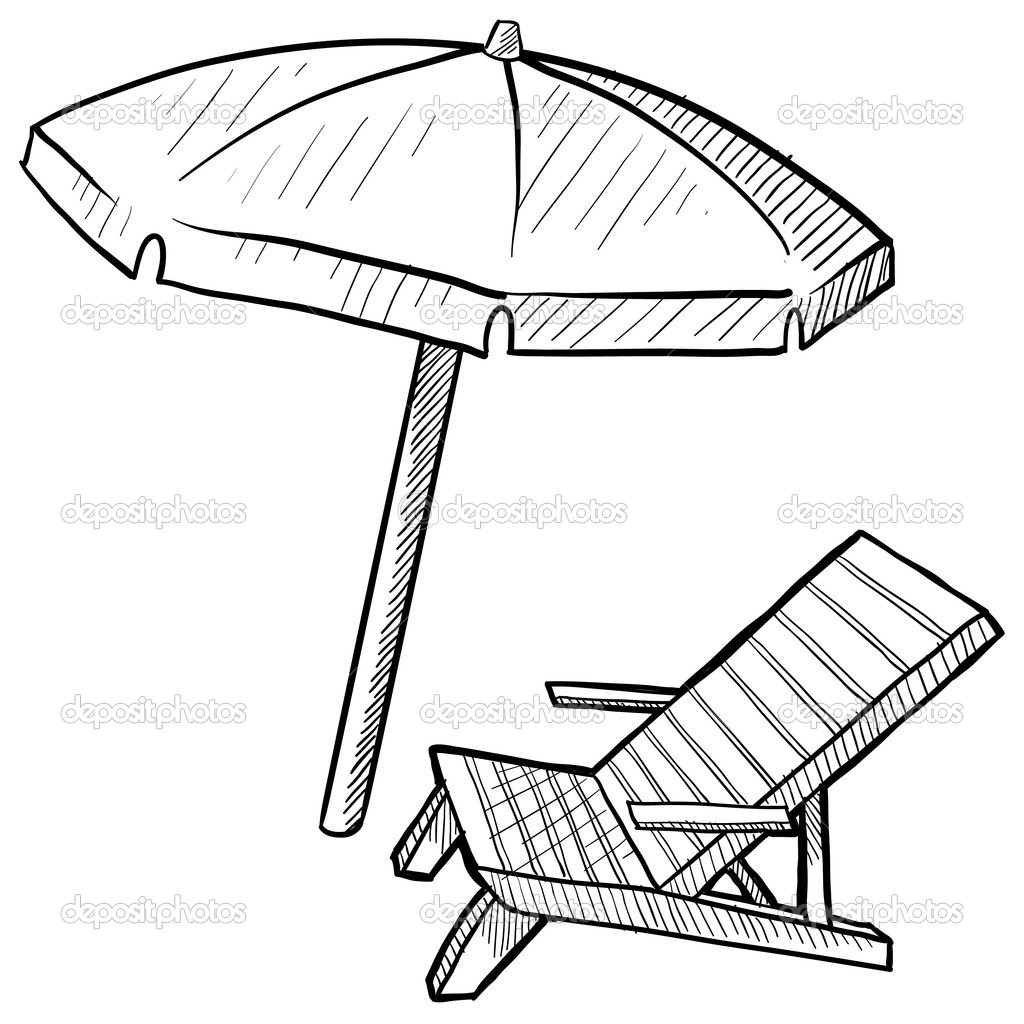 1024x1024 Simplified Beach Umbrella Coloring Pages Bltidm