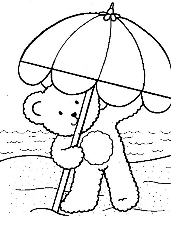 681x900 Beach Umbrella Coloring Page Hand Embroidery Hand