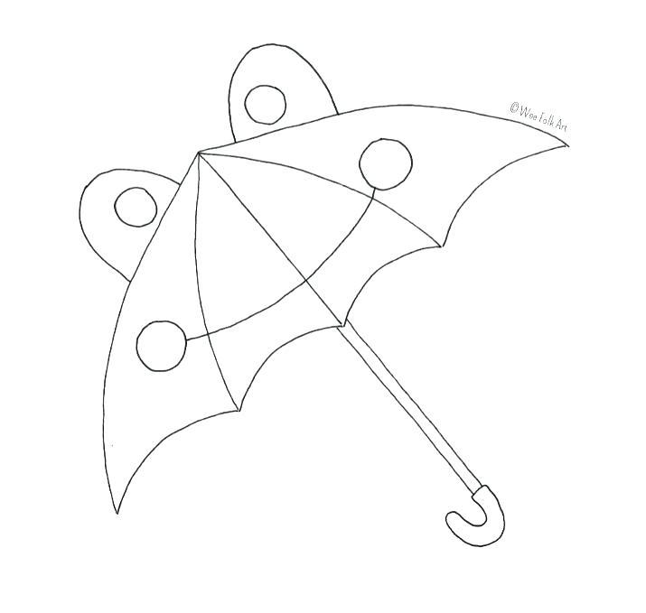715x679 Beach Umbrella Coloring Page