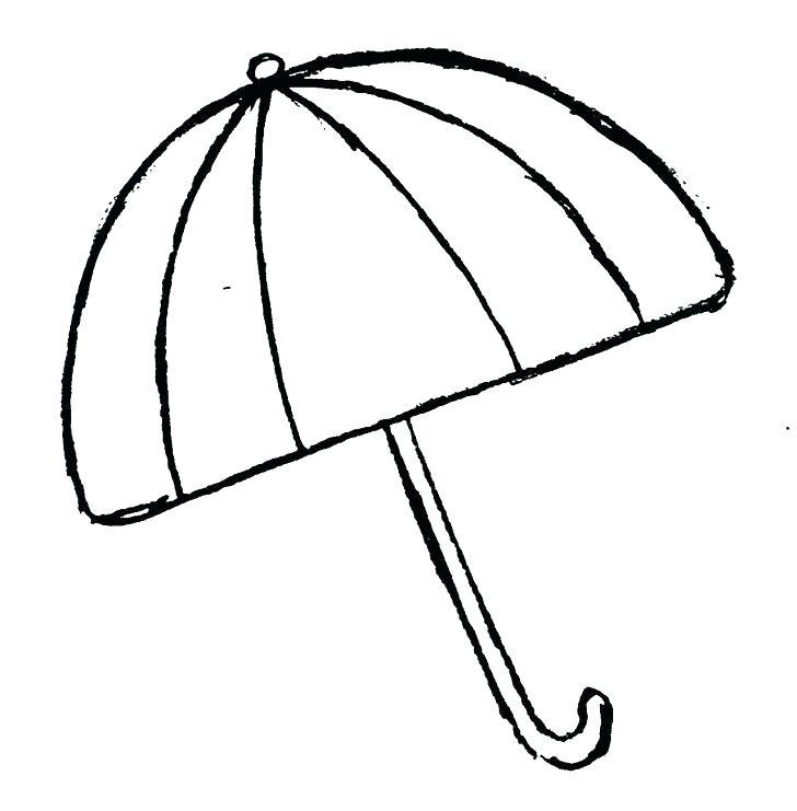 728x741 Beach Umbrella Coloring Page