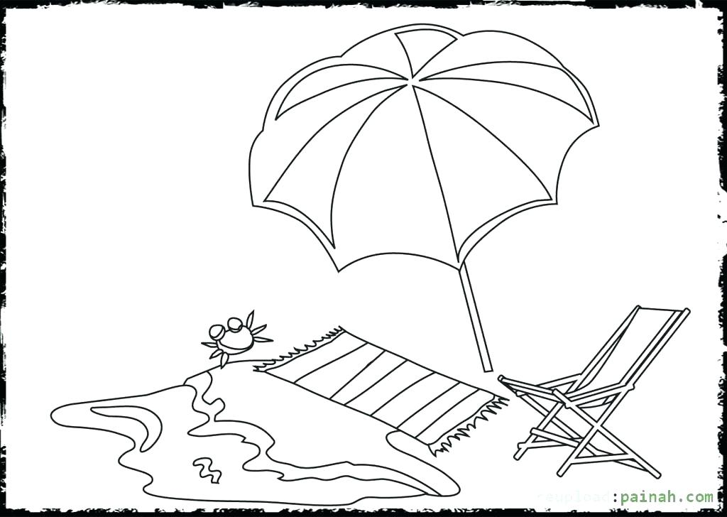 1024x728 Beach Umbrella Coloring Pages Beach Coloring Pages Summer Coloring