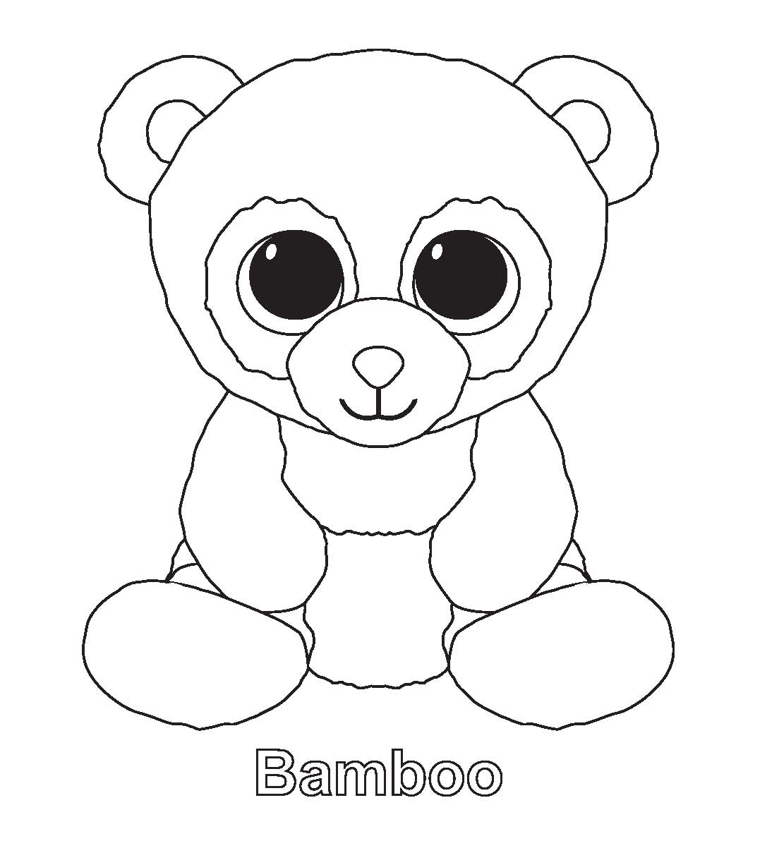 1104x1209 Ty Beanie Boos Coloring Pages Beanie Boo