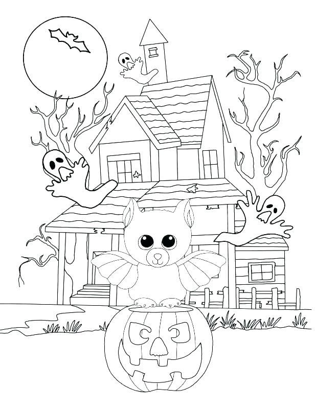 618x800 Beanie Boo Coloring Pages Beanie Boo Coloring Pages Haunted