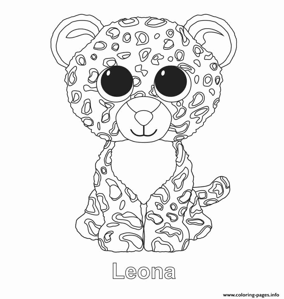 Beanie Boos Christmas Coloring Pages At Getdrawings Com Free For