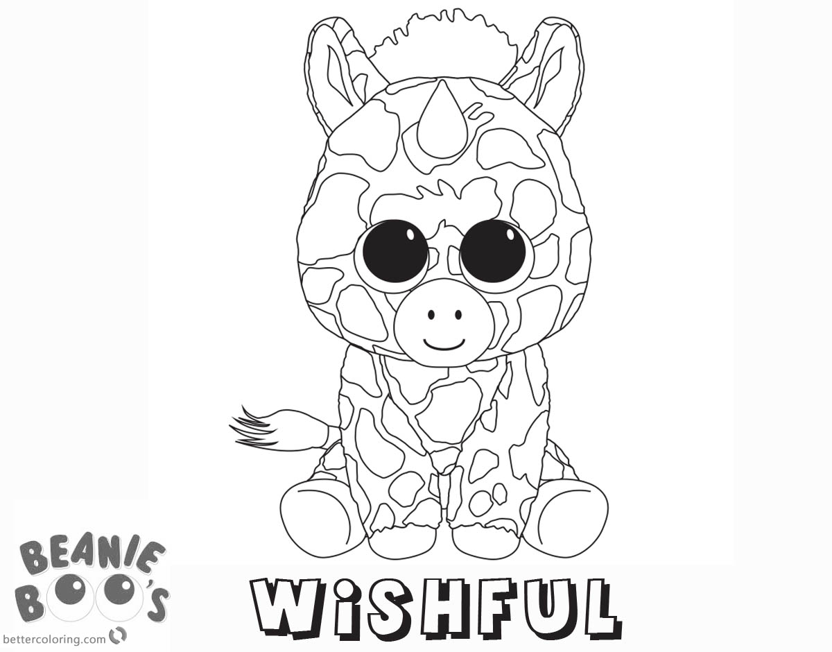 1200x940 Beanie Boo Coloring Pages Unicorn Wishful