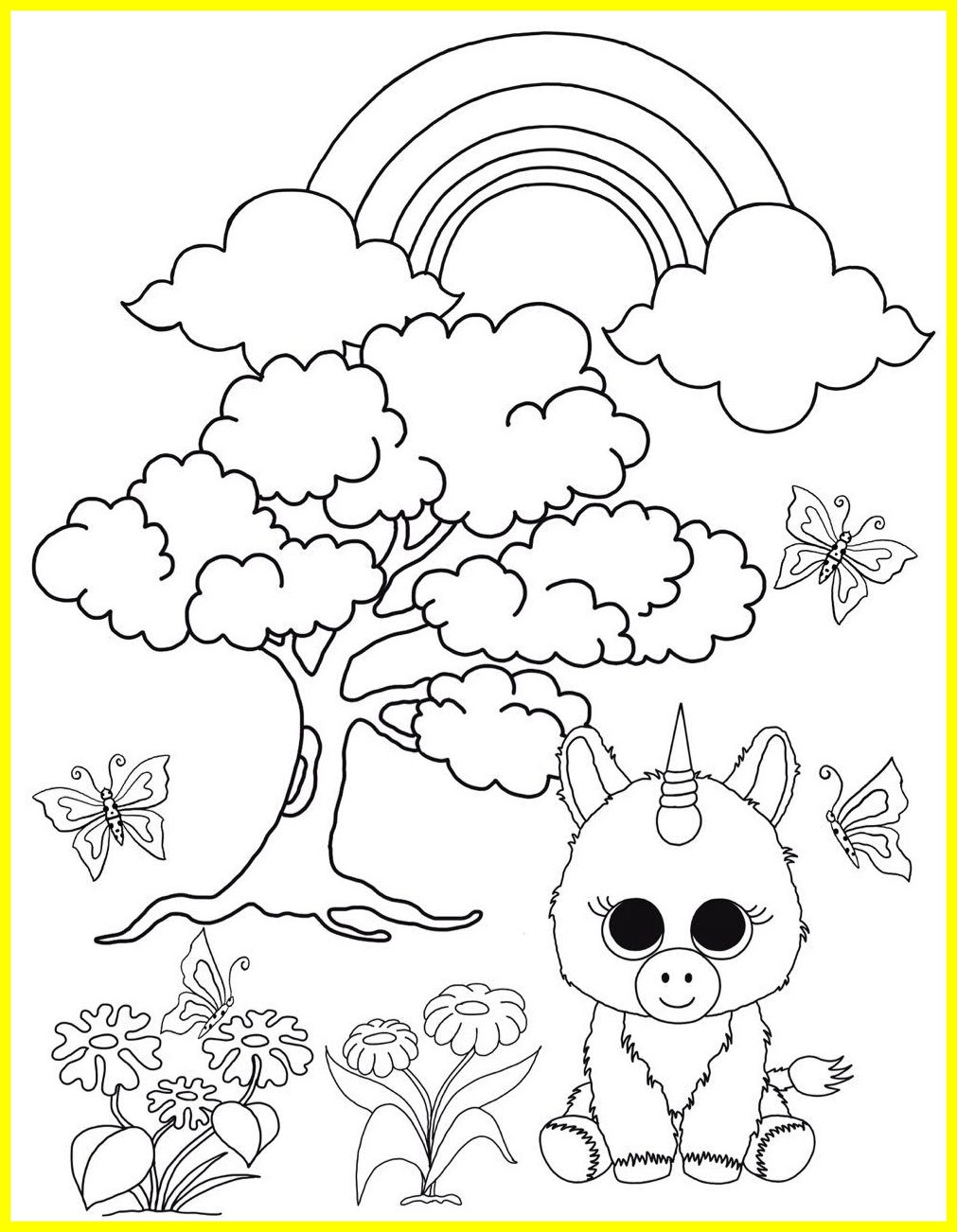 1011x1302 Stunning Beanie Boo Coloring Pages Unicorn In The Enchanted Forest