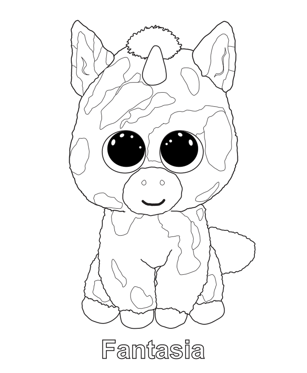 1170x1420 Beanie Boo Coloring Pages Free Printable Extraordinary Beanie Boos