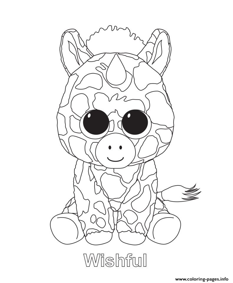 791x960 Beanie Boo Coloring Pages Free Printable Sheets