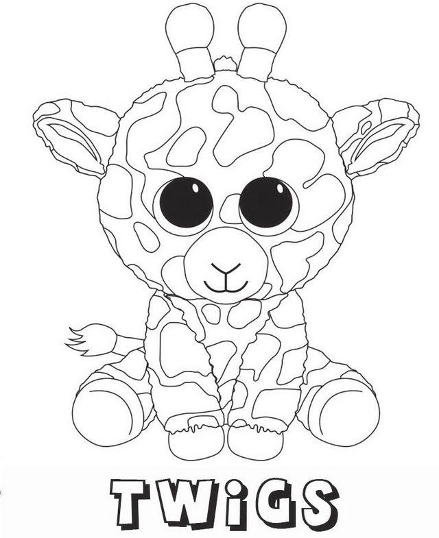 Beanie Boo Coloring Pages Only At GetDrawings Free Download
