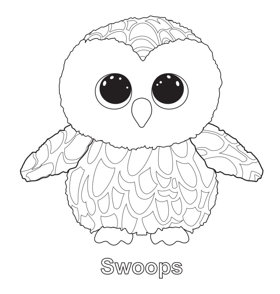 914x960 Beanie Boos Coloring Pages