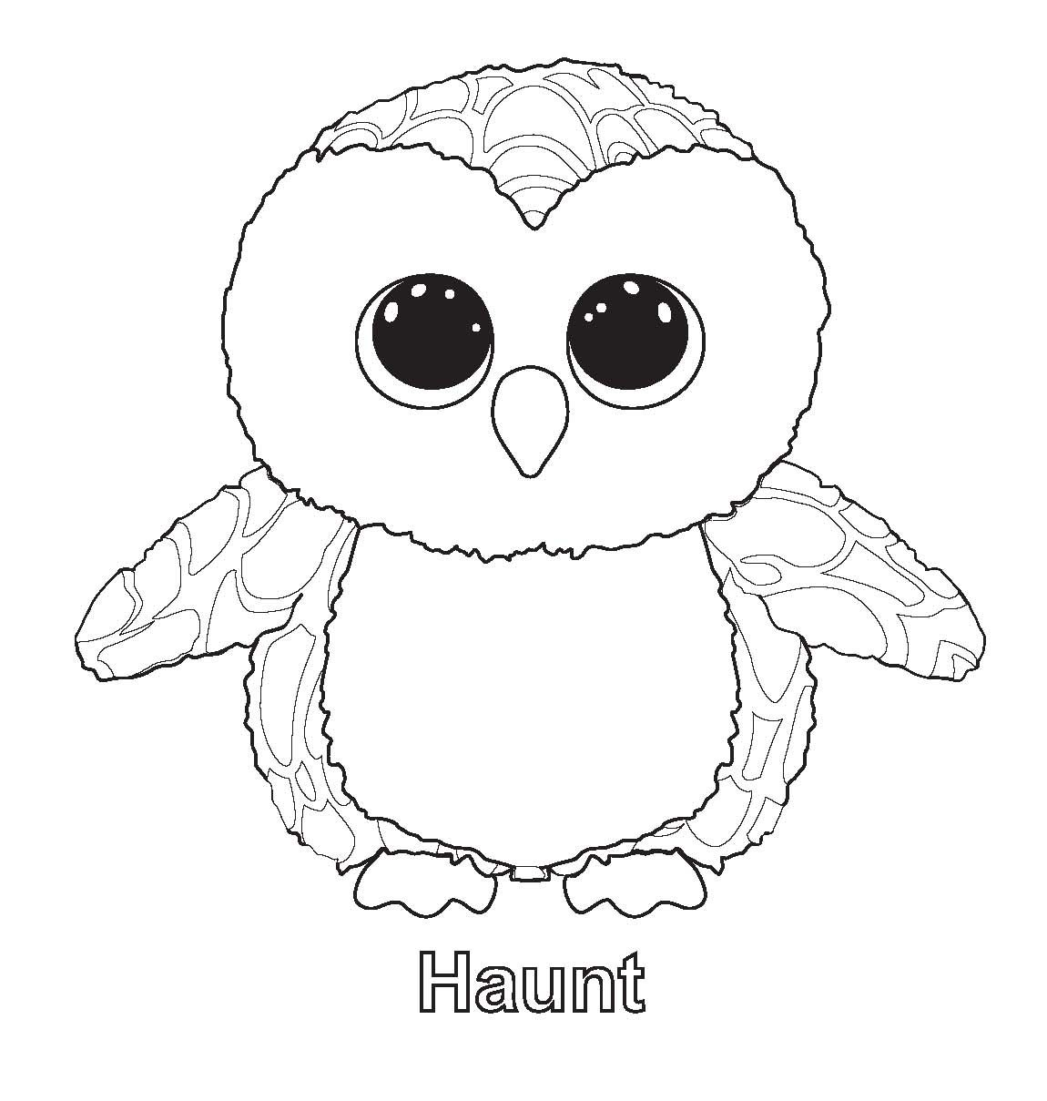 1150x1209 Free Printable Beanie Boo Coloring Pages