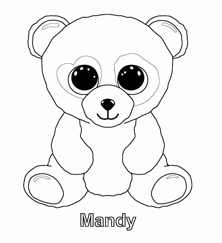 736x806 Free Printable Beanie Boo Coloring Pages Pics Print Me Fantasia Ty