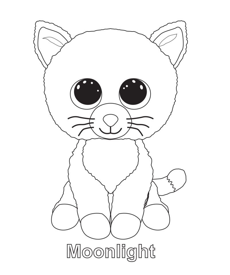 802x960 Moonlight The Cat Ty Beanie Boo Kids