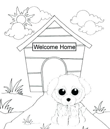 381x445 Beanie Boo Coloring Pages Cat Dog Free Printable Coloring Pages