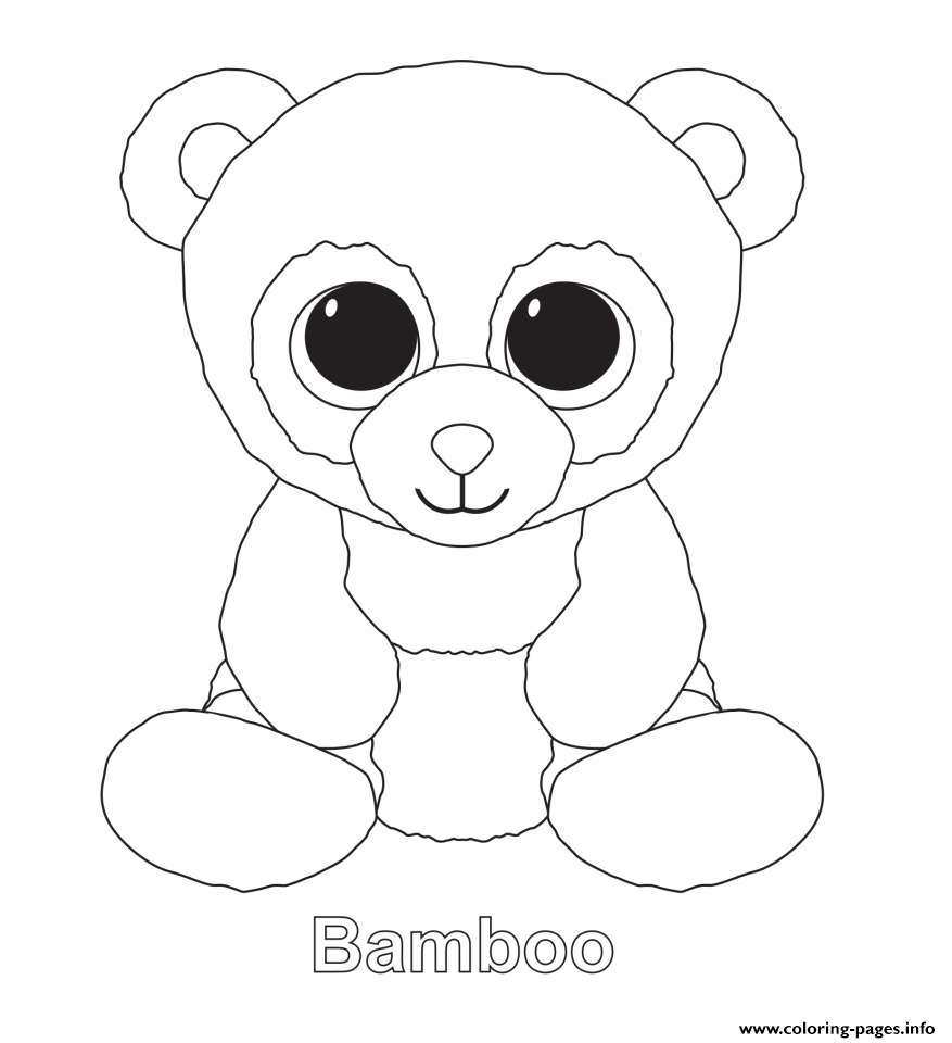 877x960 Print Bamboo Beanie Boo Coloring Pages Learning