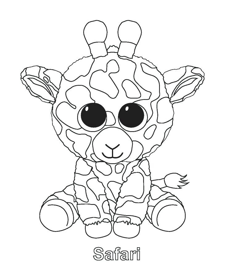 Beanie Boos Christmas Coloring Pages