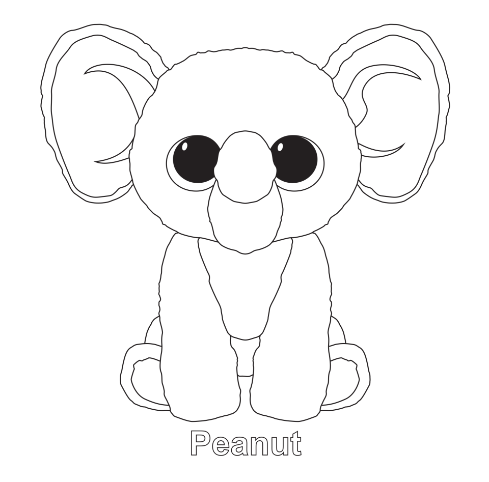 960x947 Beanie Boos Coloring Pages Party Beanie Boos