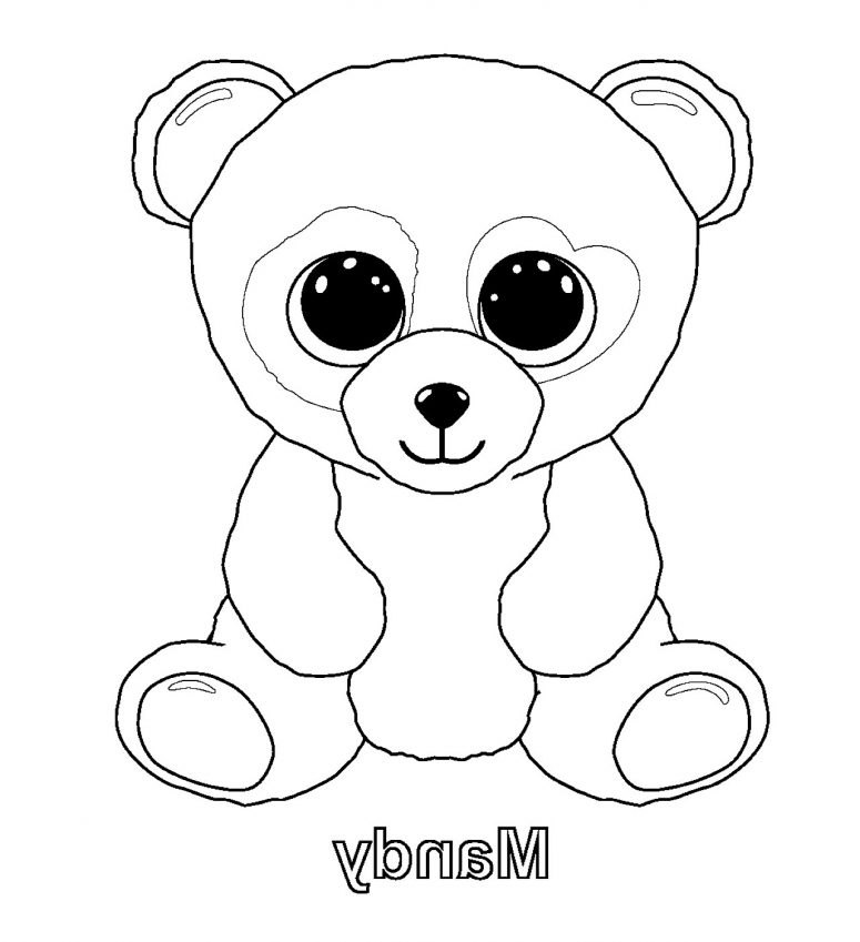 775x849 Beanie Boos Coloring Pages Printable Coloring Page For Creativity