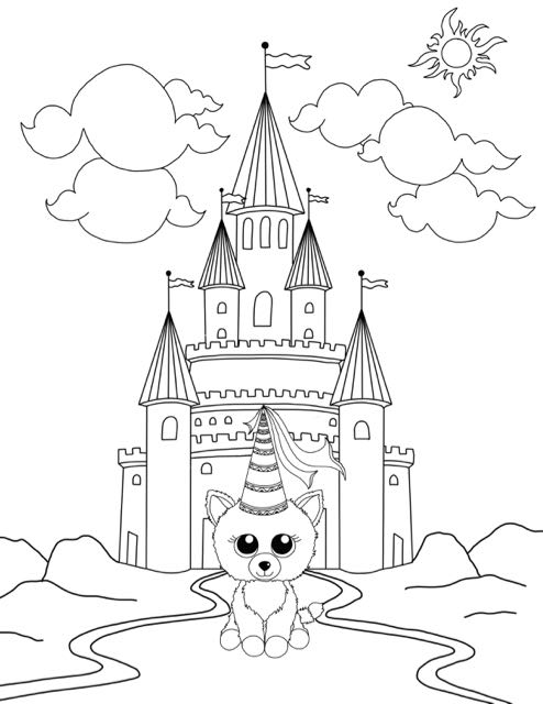 494x640 Free Beanie Boo Coloring Pages Download Print Cats, Dogs