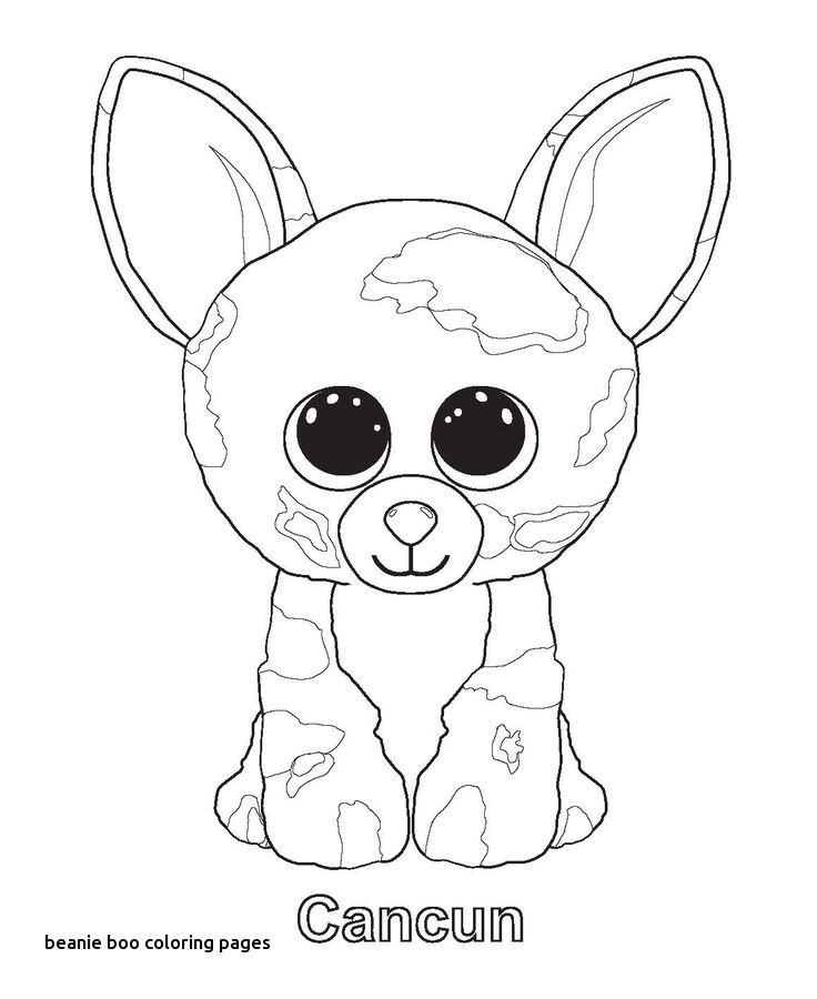Beanie Boos Christmas Coloring Pages At GetDrawings Free Download