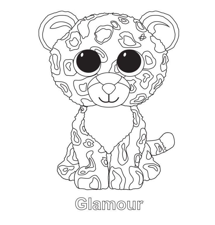 736x773 Glamour The Leopard Ty Beanie Boo Beanie Baby Boos