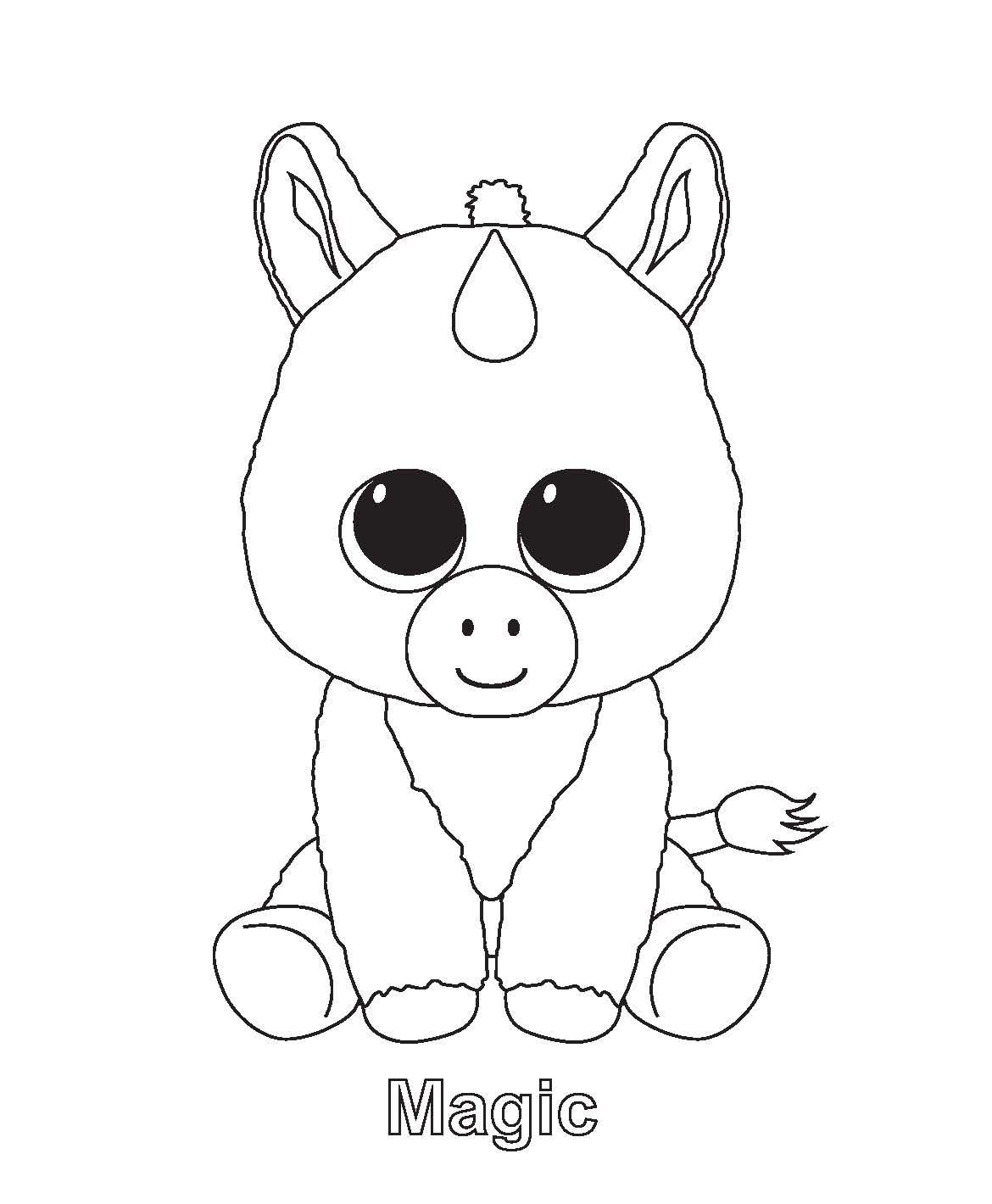 1170x1420 In Beanie Boo Coloring Page
