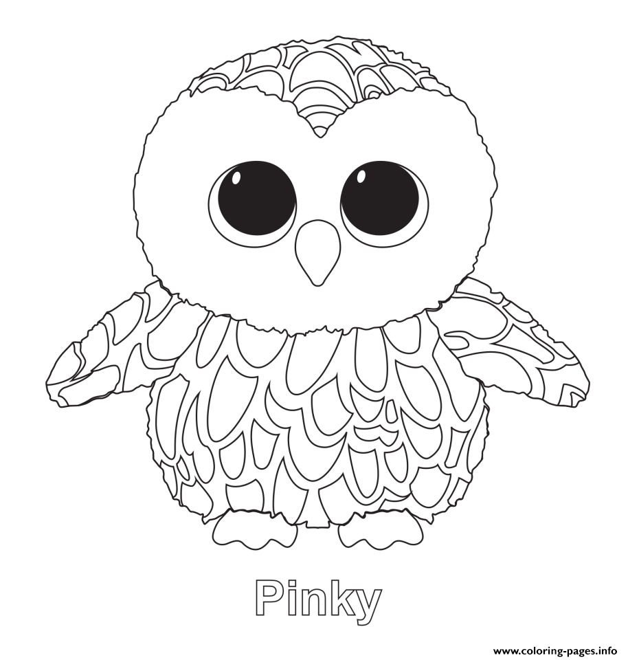 914x960 Pinky Beanie Boo Coloring Pages Printable