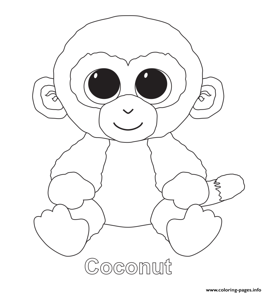 869x960 Print Coconut Beanie Boo Coloring Pages Coloring Pages