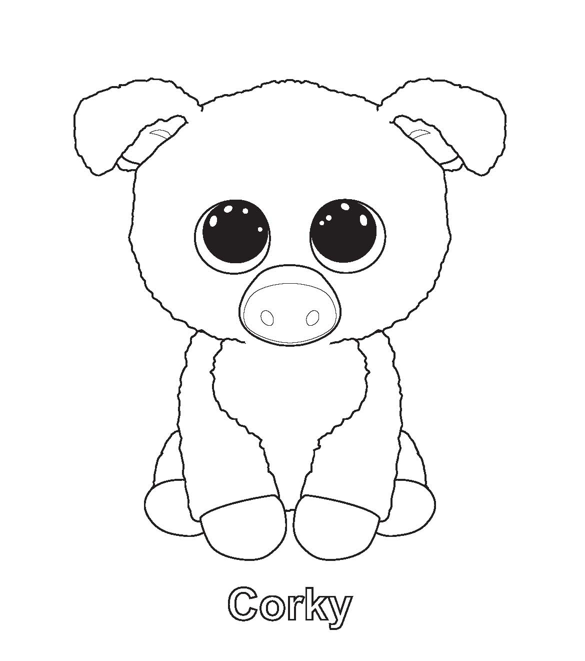 1170x1321 Printable Print Me Corky Ty Beanie Boo Free Coloring Pages Download