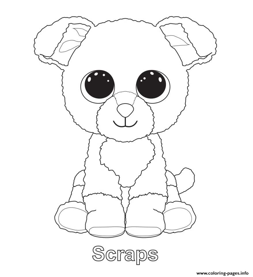 878x960 Awesome Ty Beanie Boos Coloring Pages Collection Free Coloring Book