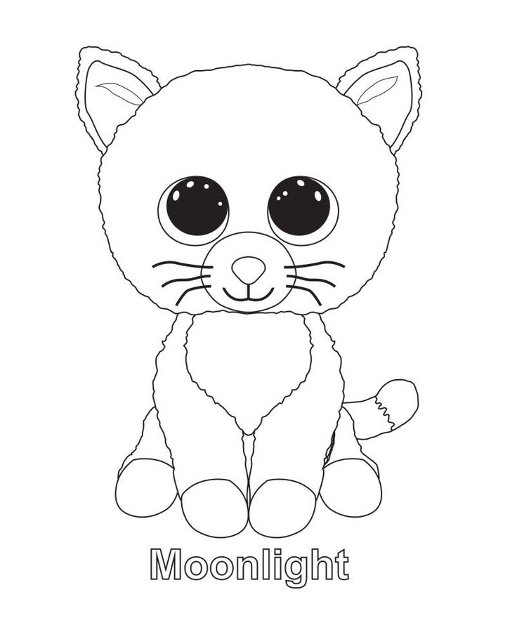 736x880 Printable Ty Beanie Boo Coloring Pages For Preschoolers