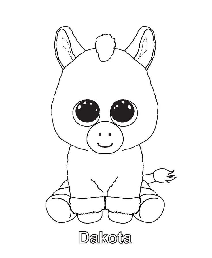 736x893 Ty Beanie Boo Coloring Pages Download And Print For Free Color